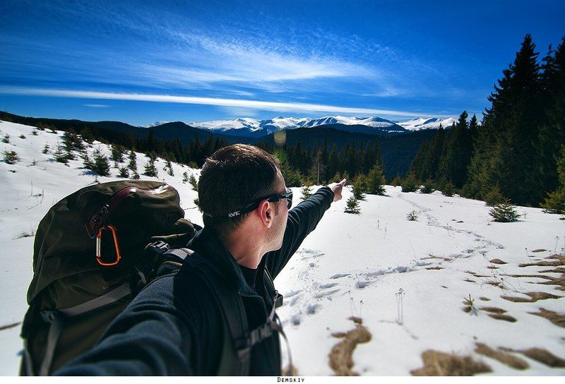 горы, туризм автопортретphoto preview