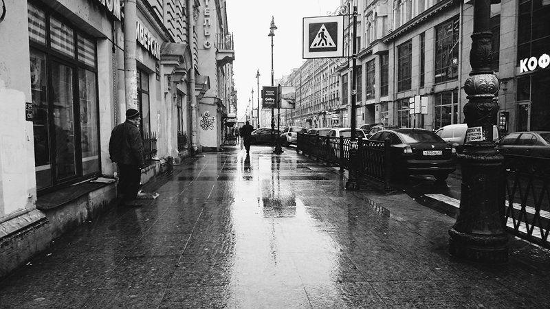Black & white, City, People, Saint-Petersburg ***photo preview