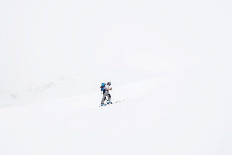 Горные лыжи, Горы, Снег, Таджикистан, Такоб White & Whitephoto preview