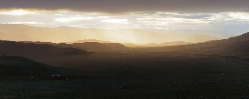 закат монголия Монгольский закатphoto preview