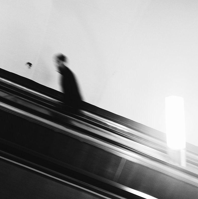 Black & white, Metro, Sabway, Saint-Petersburg ***photo preview