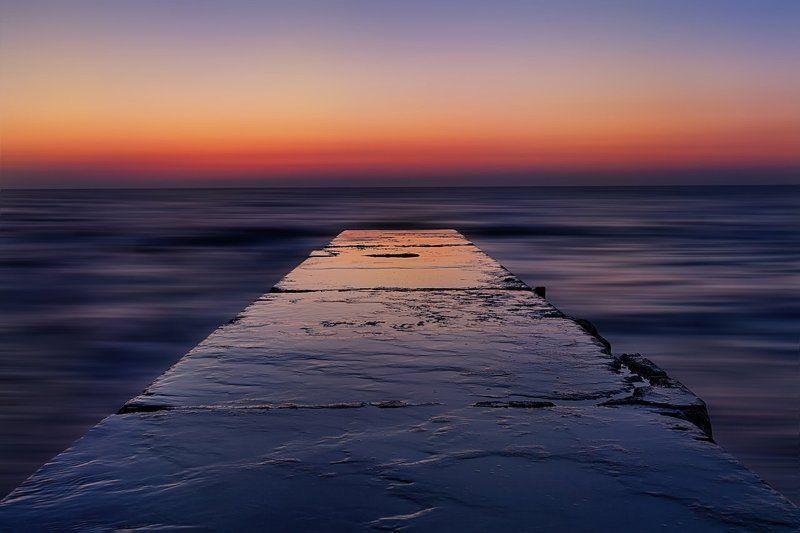 Восход, Горизонт, Море, Мост, Отражение, Пирс, Природа, Рассвет Звенящая тишина рассвета...диалог с моремphoto preview