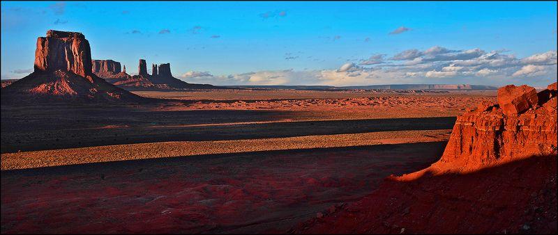 Длинные тени заката ...photo preview