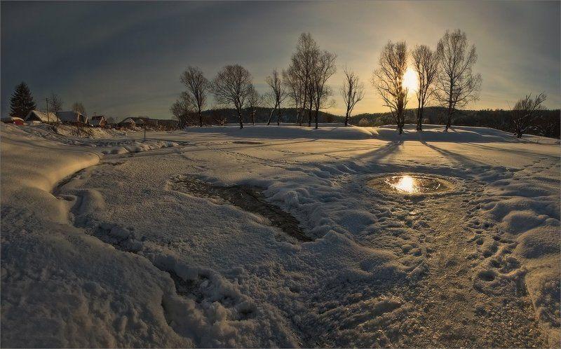 Зимние виды Проталины ...photo preview