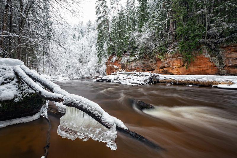 река Амата Берега зимней Аматыphoto preview