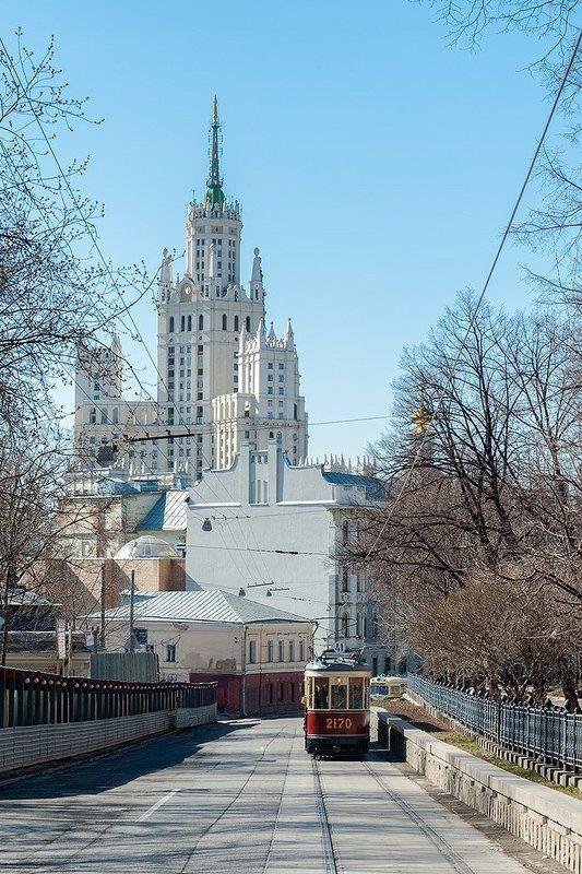Мосгортранс, москва, московский трамвай, трамвай На Яузском бульвареphoto preview