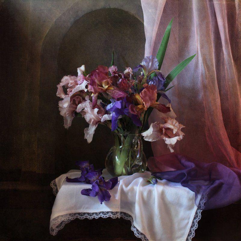Букеты, Ирисы, Цветочный натюрморт, Цветы Ирисыphoto preview