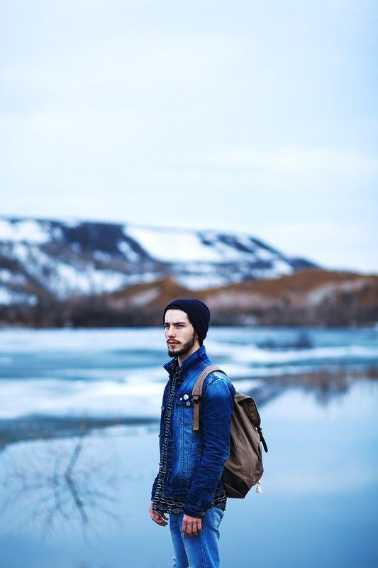 Blue, Color, Man, Mountains, Portrait Путникphoto preview