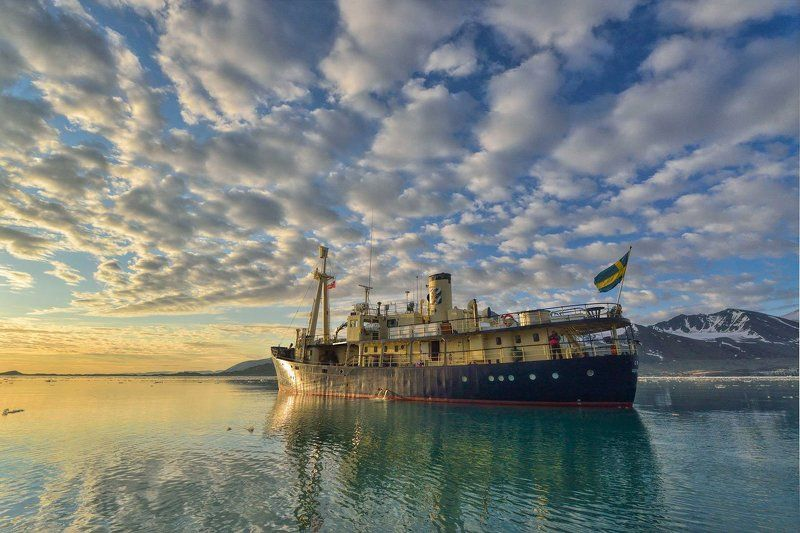 Арктика, архипелаг Шпицберген, корабль, Ориго, путешествия арктический рассвет photo preview