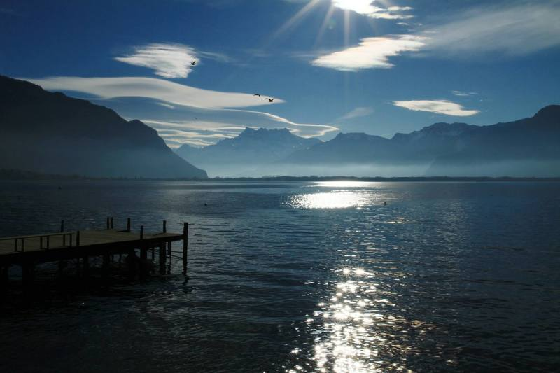 Switzerland, Leman, lake, Dents du Midi ***photo preview