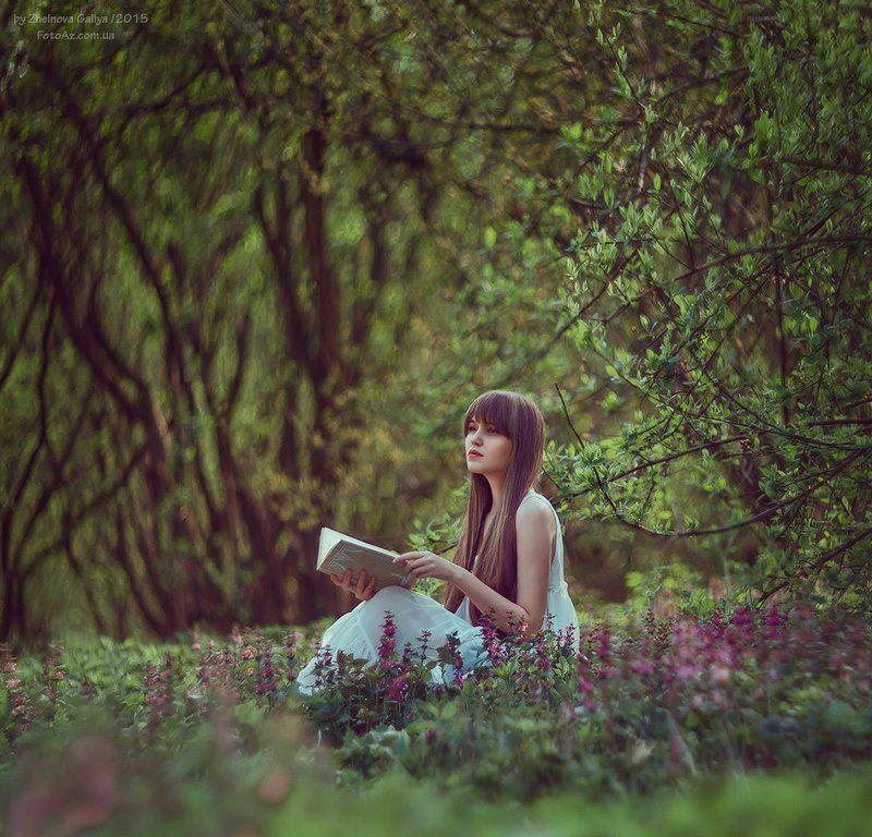 Весна, Девушка, Зелень, Портерт ...photo preview