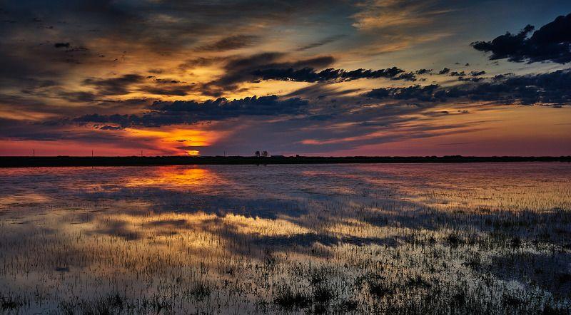 пейзаж закат Казахстан Тургай Вечерняя зорькаphoto preview