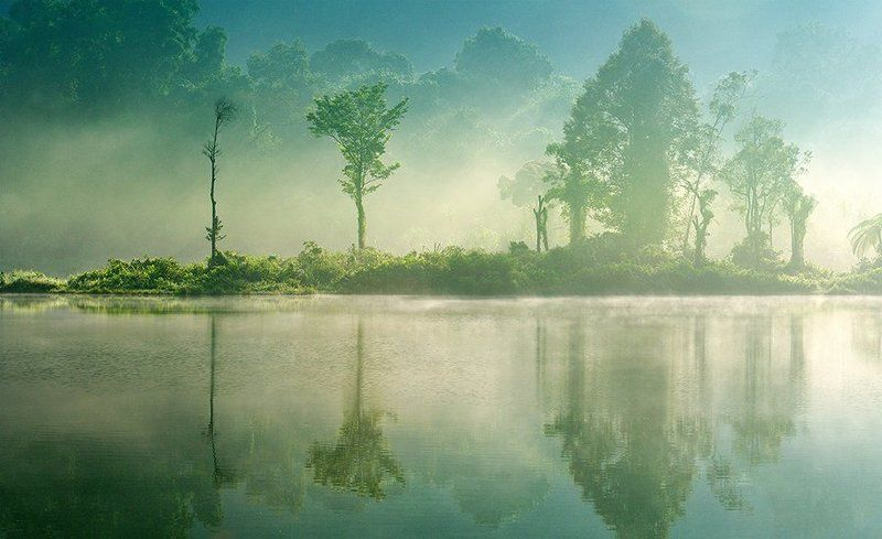 Lake, Landscape, Morning, Nature, Situ gunung Situ Gunungphoto preview