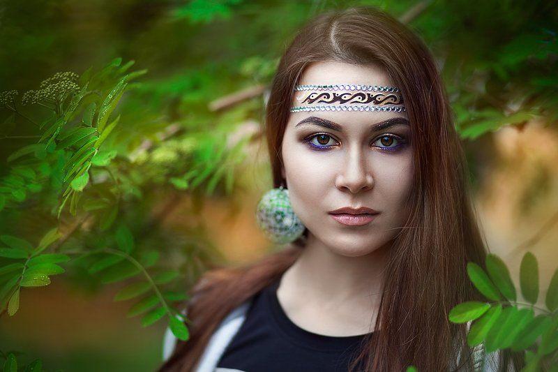 девушка портрет лес Наташаphoto preview
