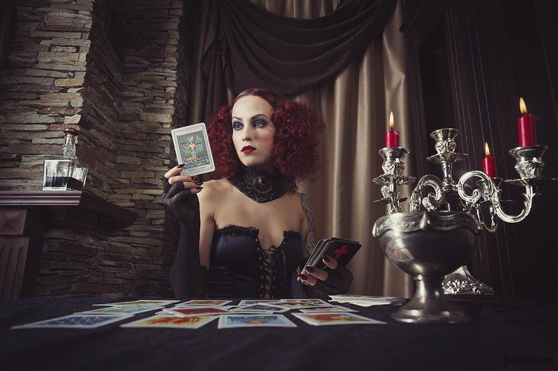 Gothic, Oracle, Portrait, Prophecy, Red hair, Woman Prophecyphoto preview