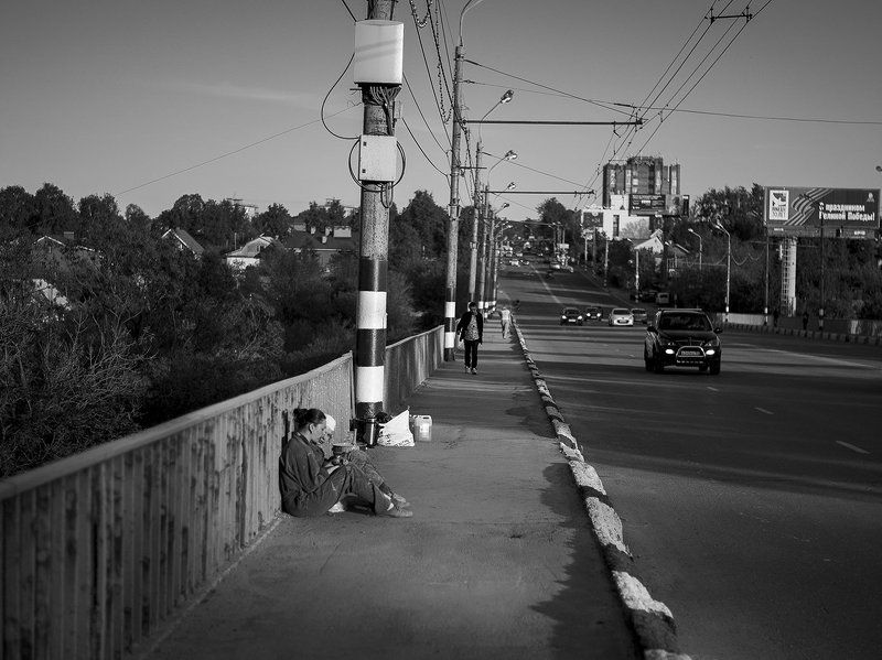 bnw, bw, street, чб Отдых после работыphoto preview