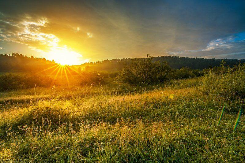Dawn, Fog, Landscape, Morning, Nature, Sun, Sunrise, Кемеровская область, Керлегеш, Лес, Лето, Небо, Облака, Пейзаж, Прокопьевск, Рассвет, Солнце, Туман Рассвет в Керлегеше.photo preview