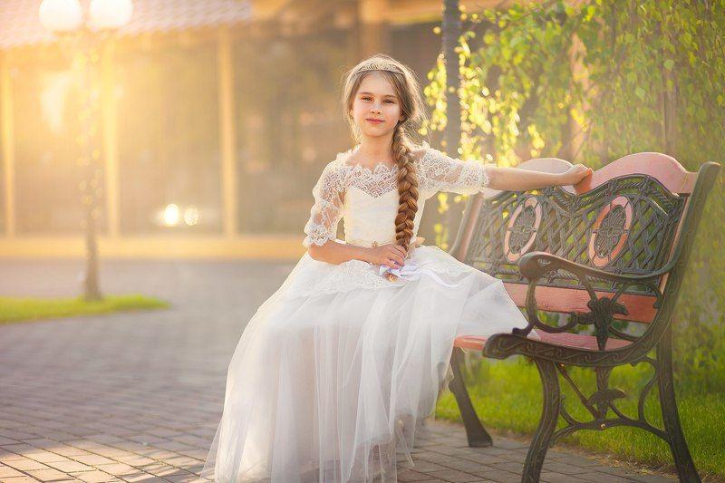 девочка портрет лето солнце Полинаphoto preview