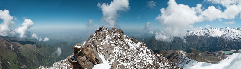 kazakhstan, almaty, mountain, peak, clouds, mount, summit, sky Trekking to Big Almaty peak.photo preview