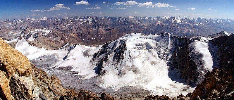 горы, ледник, облака. Про ледник.photo preview