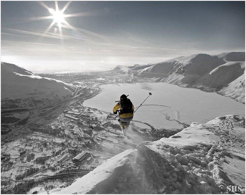 фрирайд, горные лыжи, хибины воздух выдержит только тех....photo preview