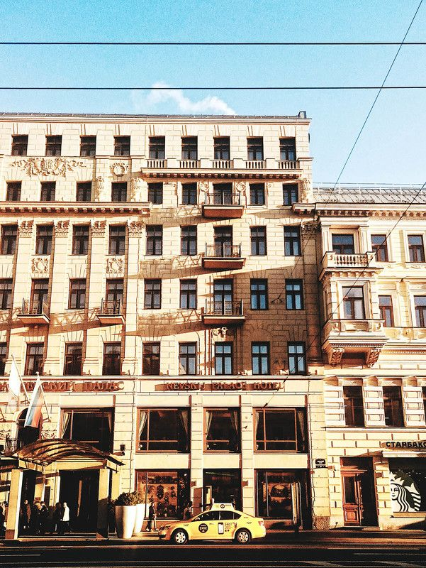 City, Saint-Petersburg, Spring, Taxi ***photo preview