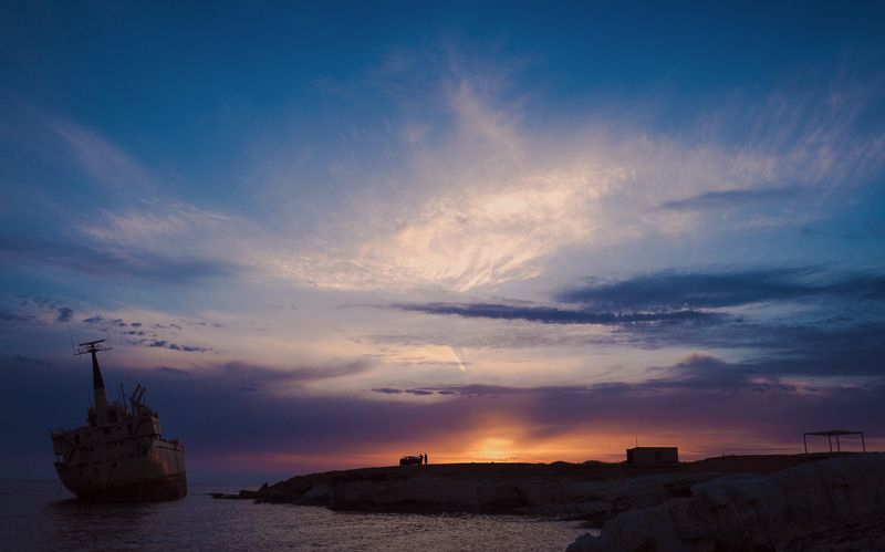 ship, закат, кипр, море, sea, sunset Ship Edro3photo preview