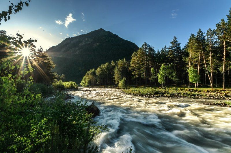 Кавказ, Кабардино Балкария, горы, лес река Баксанphoto preview