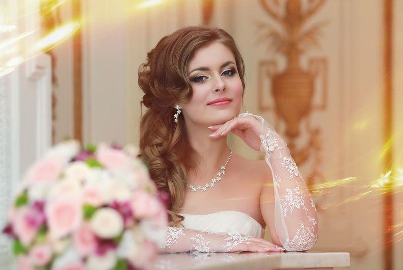 невеста свадьба букет невестаphoto preview
