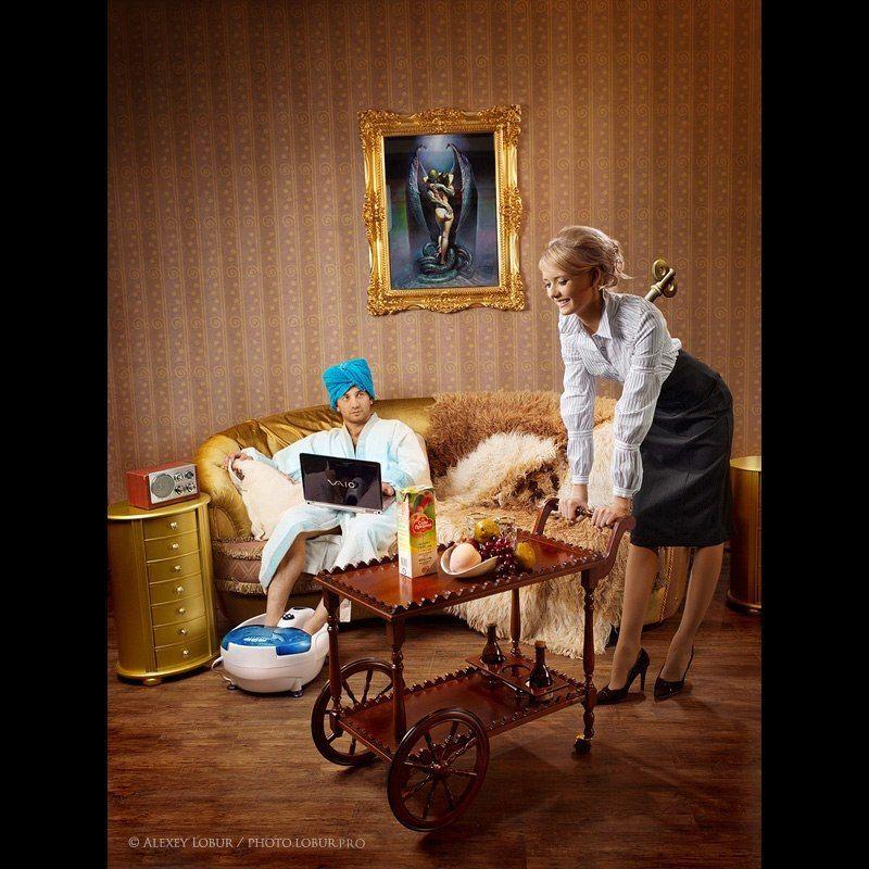женщина, мужчина, ретушь, лобур Степфордские женыphoto preview