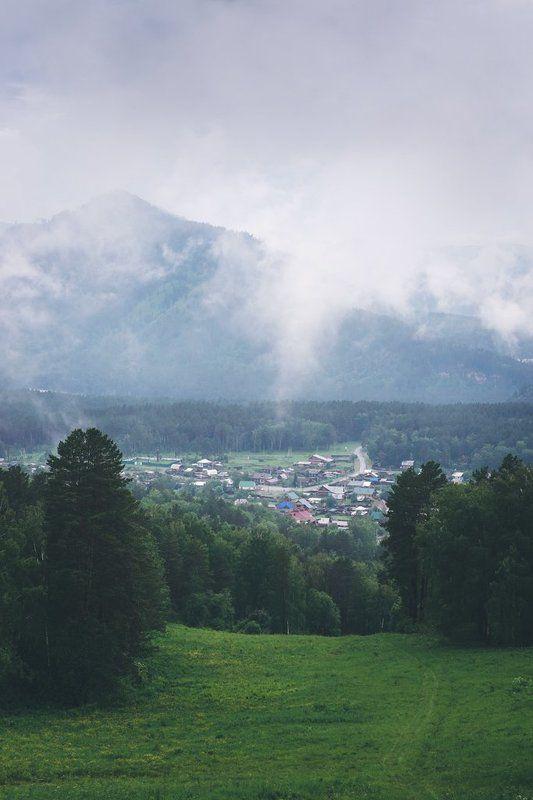 горный алтай, горы, лес Небо с молокомphoto preview