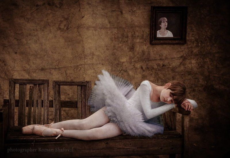 Балерина, Девочка, Портрет, Роман Шафовал момент одиночества...photo preview