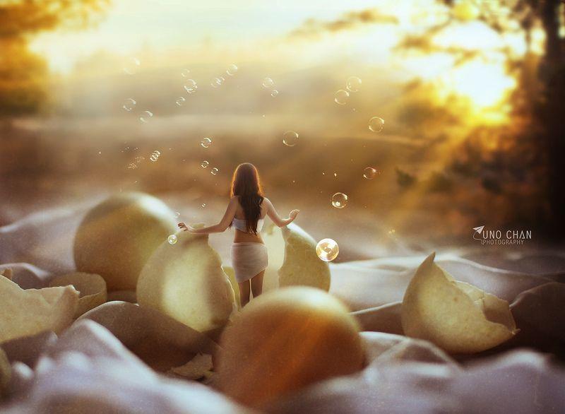 unochan, vuonghongchan, girl, beautiful, egg, rebith Origin 2photo preview