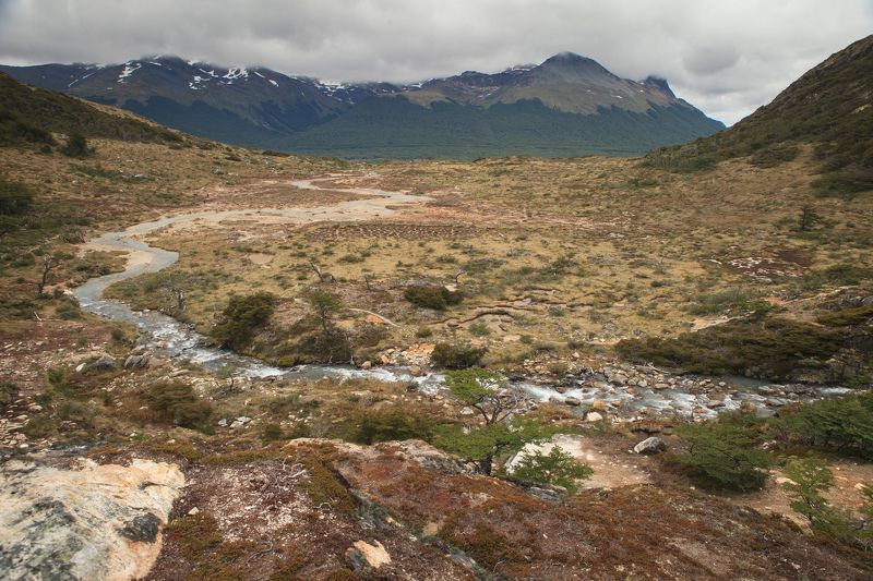 горная речка, горы,  по дороге на оз. Изумрудное (Аргентина)photo preview
