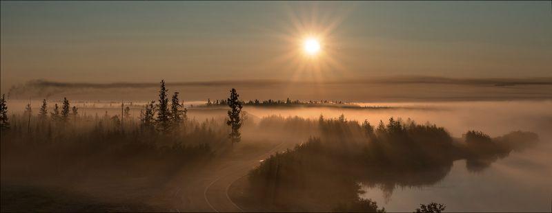 Пнйзаж, Туман солнце Над утренним туманомphoto preview