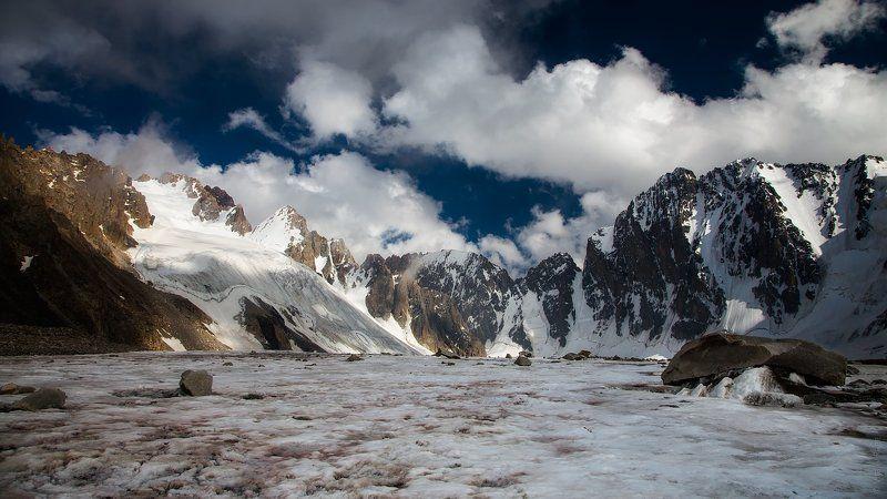киргизия, горы, ледник, лето Простой летний пезжажphoto preview