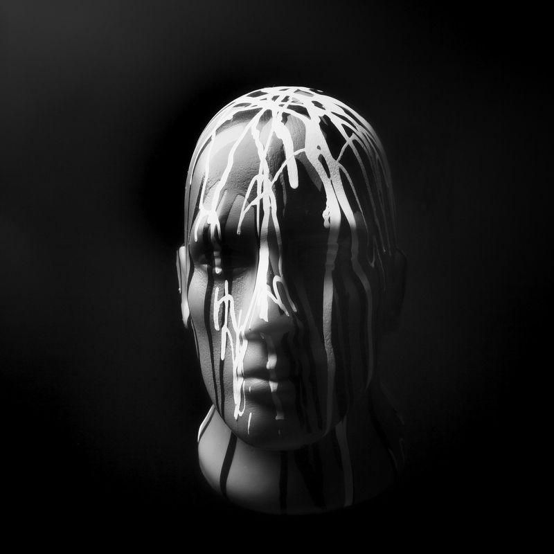 маникен, портрет, краска, лицо, голова Манекенphoto preview