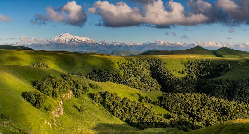горы, Кавказ, Россия, лето, Эльбрус Эльбрус летомphoto preview