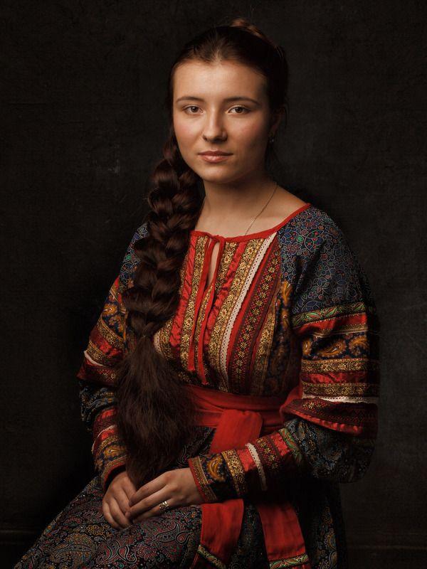 русская,russia,девушка,волосы,коса,girl,portrait,портрет,art Mona Lisa Smilephoto preview