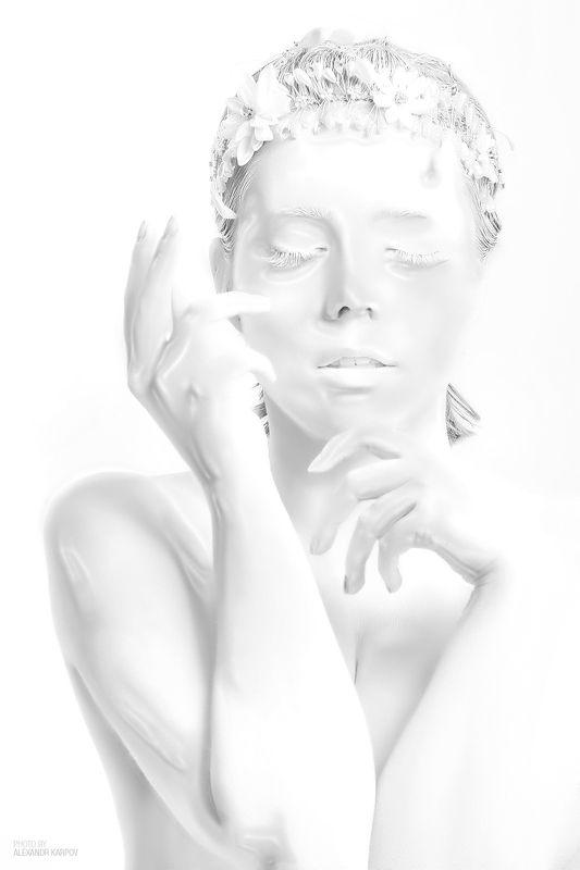 девушка, манекен, пластик, портрет, чб Mannequinphoto preview