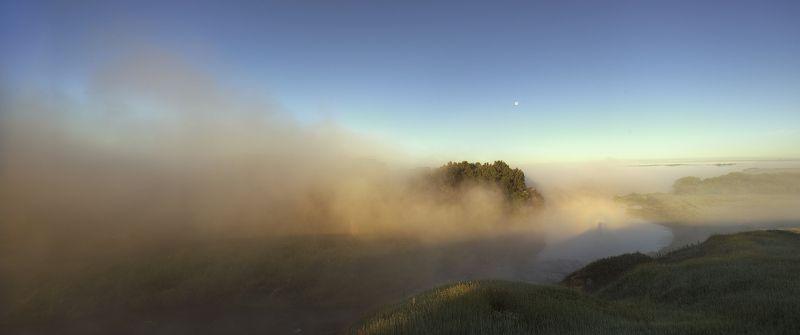 landscape, nature, light, summer, sunrise, river, mist, fog Morning Miraclephoto preview