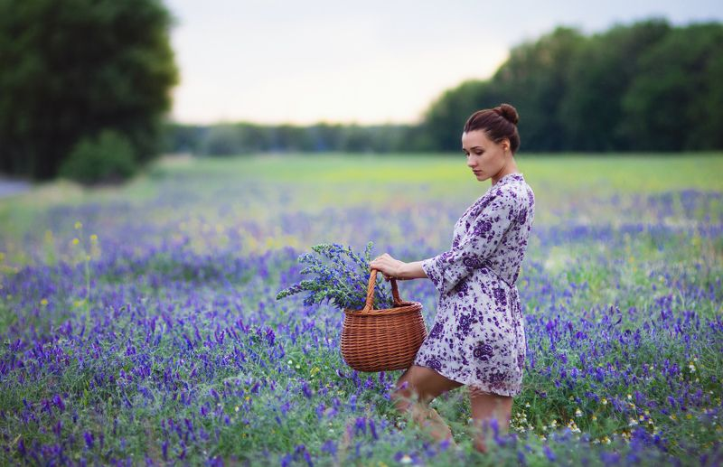 #beautiful girl #blue flowers #f Olesyaphoto preview