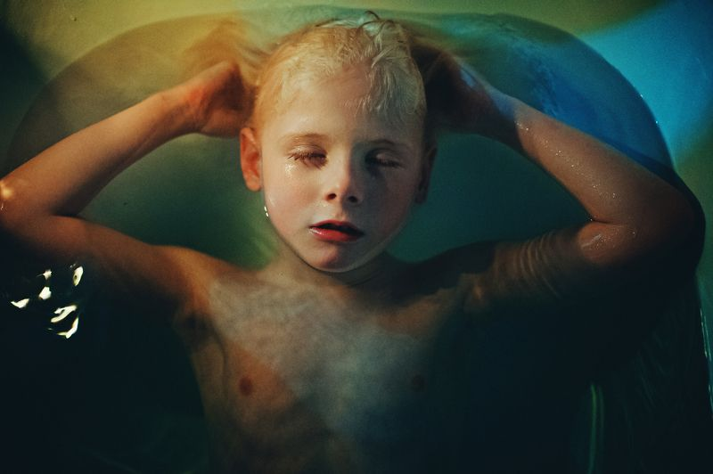 Blond, Boy, Child, Family, Mood, Water Relaxphoto preview