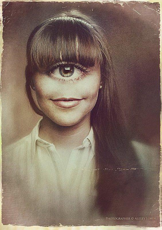 сюррелизм, девушка, женщина, глаз, ретро, винтаж, ретушь, лобур, арт oneyephoto preview