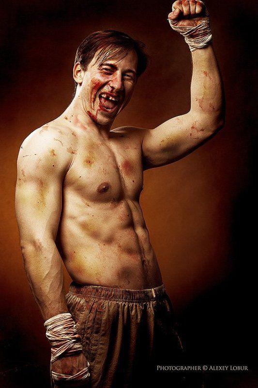 мужик, мужчина, боец, боксер, ретушь, лобур боецphoto preview