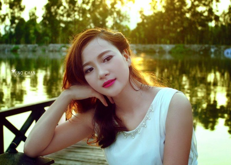 sunshine, beauty hair , girl. light, smile Gin Sam Samphoto preview