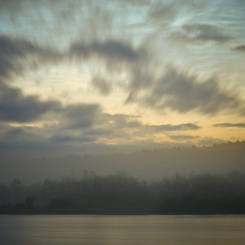 Туманное рассветное утро.photo preview