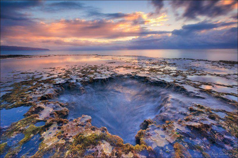 anna gibiskys, hawaii, island, long exposure, oahu, ocean, rainbow, seascape, travel, гавайи, длинная выдержка, море, морской, оаху, океан, остров, пейзаж, пшишылны, радуга, сша, тихий Гавайский закат.photo preview