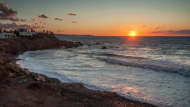 Sea, Sunset, Waves, Волны, Закат, Море Закатнаяphoto preview