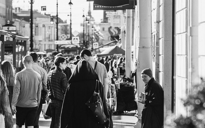 Black & white, City, People, Street ***photo preview